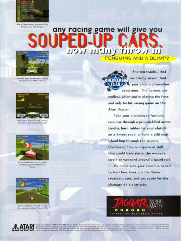 Checkered Flag Atari Jaguar