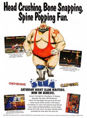 Saturday Night Slam Masters Sega Genesis