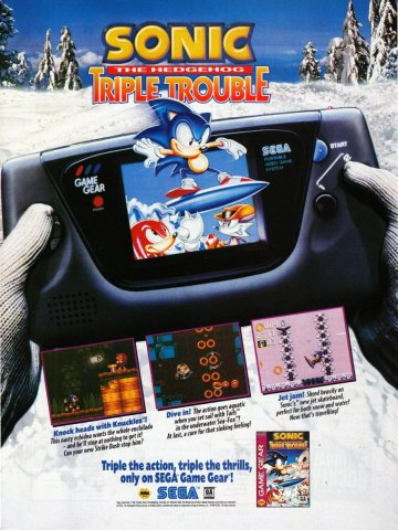 Sonic The Hedgehog Triple Trouble Game Gear
