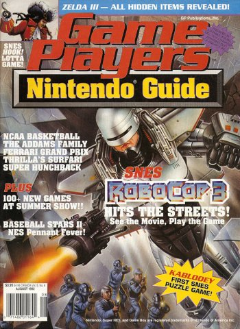 Game Players Nintendo Guide Vol.5 No.08 (August 1992)