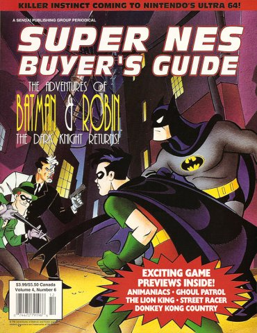 Super NES Buyer's Guide Issue 17 November/December 1994 (Volume 4 Issue 6)