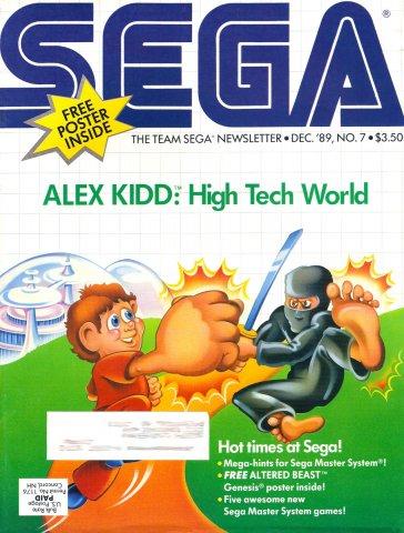 Team Sega Newsletter Issue 7 (December 1989)