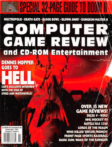 Computer Game Review Issue 40 (November 1994)