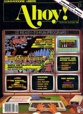 Ahoy! Issue 025 January 1986