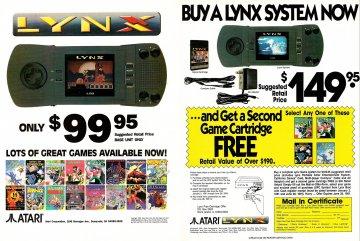 Atari Lynx price reduction (1991)