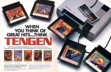 Tengen multi-ad (Gauntlet, RBI Baseball, Tetris, Super Sprint, Pac-Man)