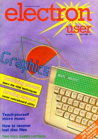 Electron User Issue 031 April 1986