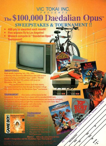 Daedalian Opus sweepstakes & tournament (1990)