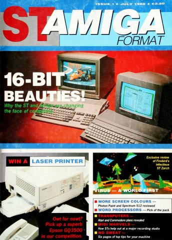 ST-Amiga Format Issue 01 July 1988