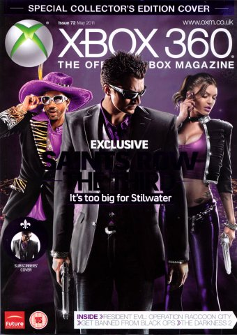 XBOX 360 The Official Magazine Issue 072 May 2011 subscriber's cover