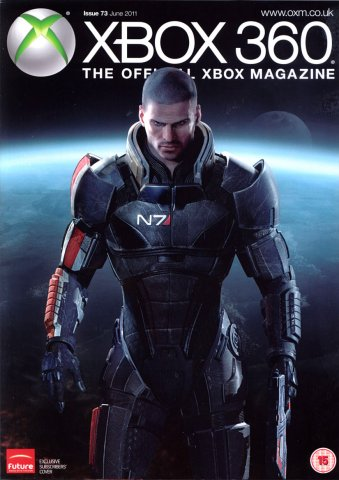 XBOX 360 The Official Magazine Issue 073 June 2011 subscriber's cover