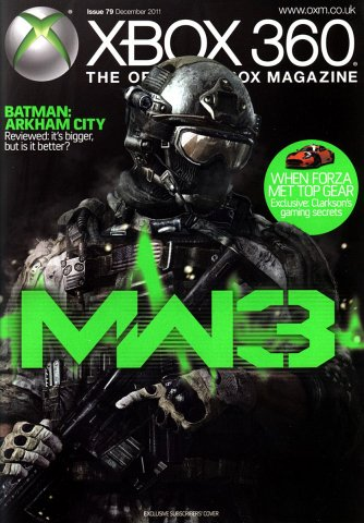 XBOX 360 The Official Magazine Issue 079 December 2011 subscriber's cover