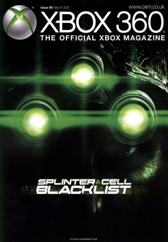 XBOX 360 The Official Magazine Issue 096 March 2013 subscriber's cover