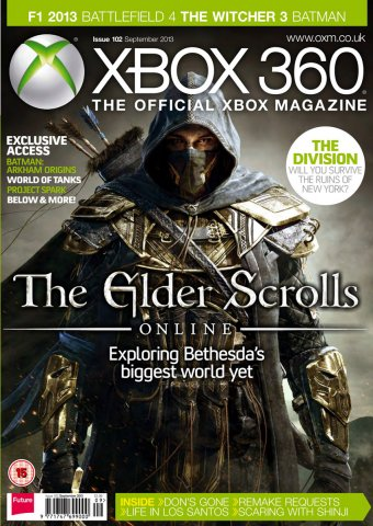 XBOX 360 The Official Magazine Issue 102 September 2013