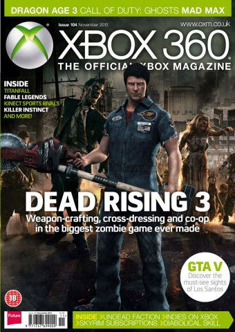 XBOX 360 The Official Magazine Issue 104 November 2013