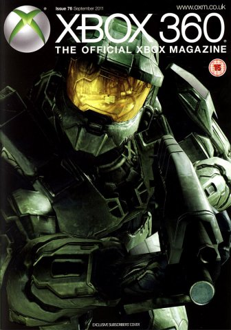 XBOX 360 The Official Magazine Issue 076 September 2011 subscriber's cover