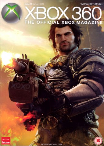 XBOX 360 The Official Magazine Issue 068 January 2011 subscriber's cover