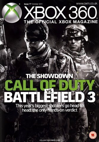 XBOX 360 The Official Magazine Issue 077 October 2011 subscriber's cover