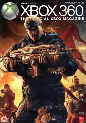 XBOX 360 The Official Magazine Issue 094 January 2013 subscriber's cover