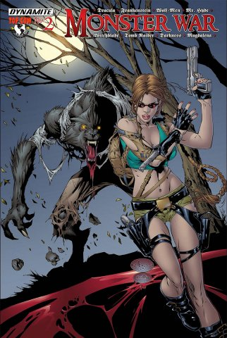 Monster War #2 Tomb Raider vs The Wolf-Men (cover b) (July 2005)