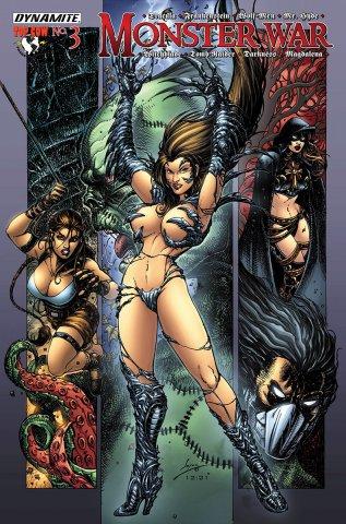 Monster War #3 Witchblade vs Frankenstein (August 2005)