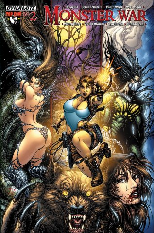 Monster War #2 Tomb Raider vs The Wolf-Men (cover a) (July 2005)
