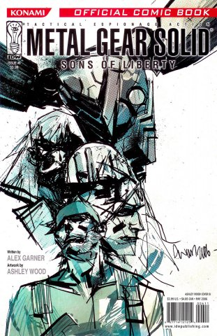 Metal Gear Solid: Sons Of Liberty Issue 06 (cover b) (May 2006)