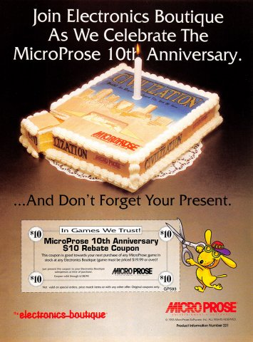 Microprose 10th Anniversary (Civilization)