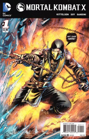 Mortal Kombat X Chapters 01-03 (cover b) (March 2015)