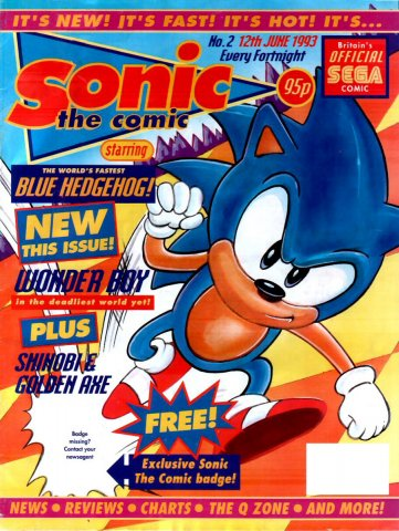 Sonic the Comic 002 (June 12,1993)