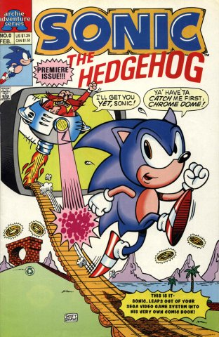 Sonic The Hedgehog Miniseries 000 (February 1993)