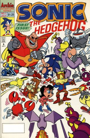 Sonic the Hedgehog 001 (July 1993)