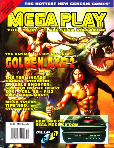 Mega Play Vol.2 No.6 November/December 1991