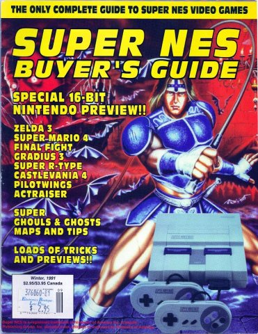 Super NES Buyer's Guide Issue 01 Winter 1991