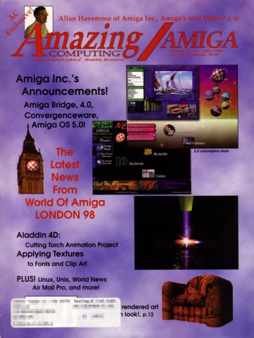 Amazing Computing Issue 145 Vol. 13 No. 07 (July 1998)