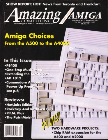 Amazing Computing Issue 083 Vol. 08 No. 02 (February 1993)