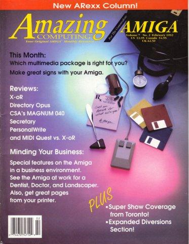 Amazing Computing Issue 071 Vol. 07 No. 02 (February 1992)