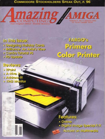 Amazing Computing Issue 094 Vol. 09 No. 01 (January 1994)