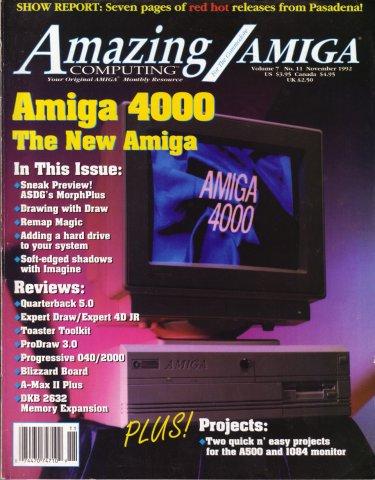 Amazing Computing Issue 080 Vol. 07 No. 11 (November 1992)