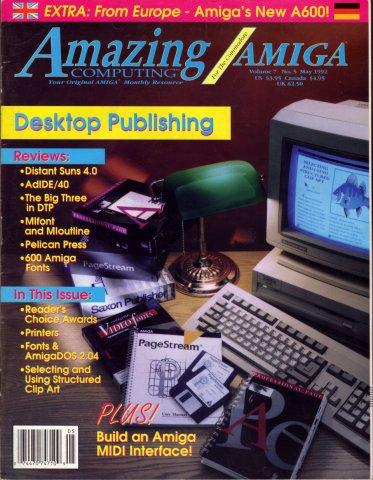 Amazing Computing Issue 074 Vol. 07 No. 05 (May 1992)