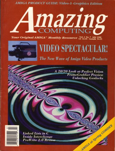 Amazing Computing Issue 028 Vol. 03 No. 07 (July 1988)
