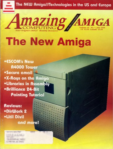 Amazing Computing Issue 109 Vol. 10 No. 07 (July 1995)