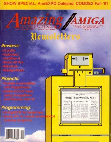 Amazing Computing Issue 069 Vol. 06 No. 12 (December 1991)
