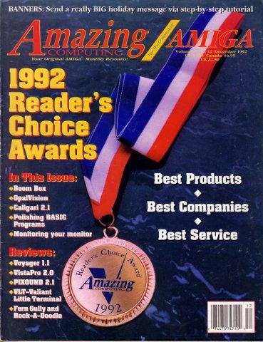 Amazing Computing Issue 081 Vol. 07 No. 12 (December 1992)