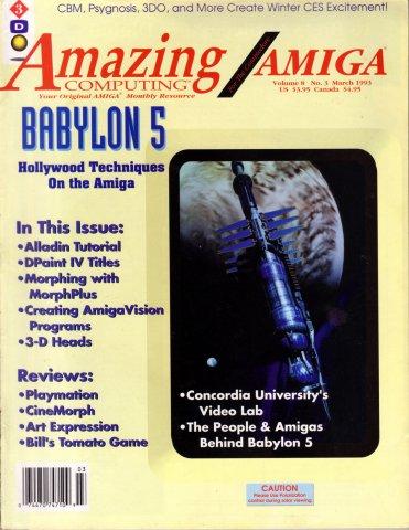 Amazing Computing Issue 084 Vol. 08 No. 03 (March 1993)