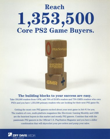 "Ziff Davis Media marketing insert ""Core PS2 Game Buyers"" (2004)"
