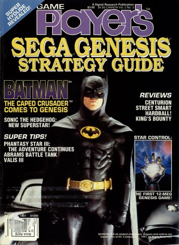 Game Player's Sega Genesis Strategy Guide Vol 2 No 3 cover