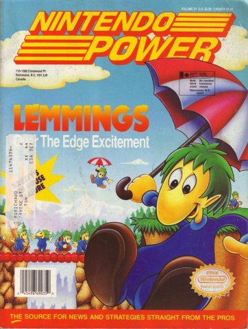 Nintendo Power Issue 037 (June 1992)