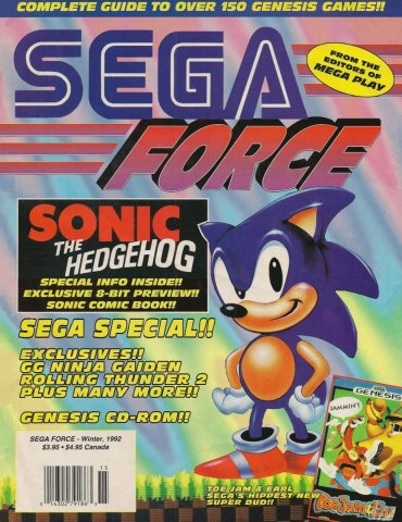 Sega Force Issue 1 Winter 1992