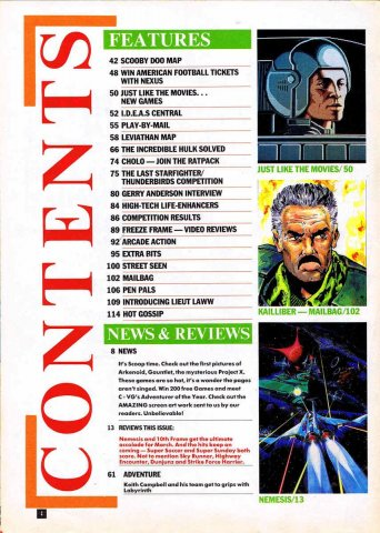CVG Issue 065 Contents